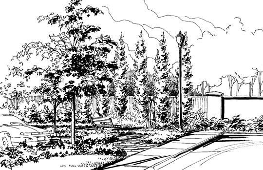 Line Art Landscape : Mixed use development projects by planning solutions inc