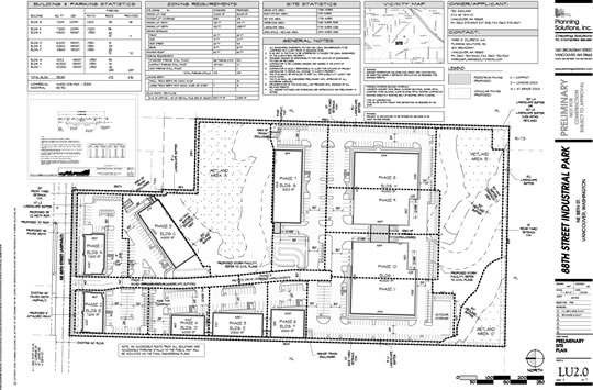 88th Industrial Site Plan